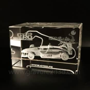 trophee verre gravure laser