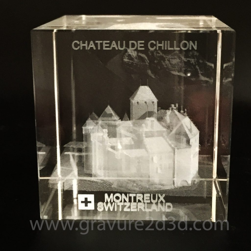 cube de verre presse papier