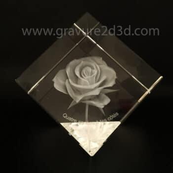 cube de verre gravure laser