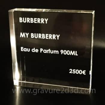 plaque en verre personnalisable