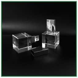 clés USB publicitaires cube de verre