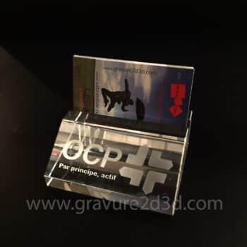 porte carte en verre personnalisable