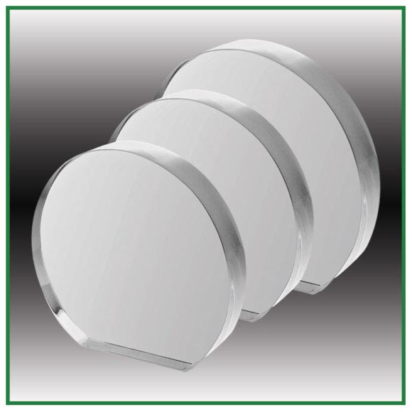 Trophées ronds en verre avec gravure laser