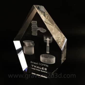 coupe en verre personnalisée
