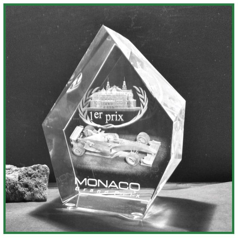 Trophée en verre Prestige