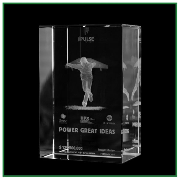 trophée rectangulaire en verre