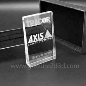 fabrication de trophée en verre