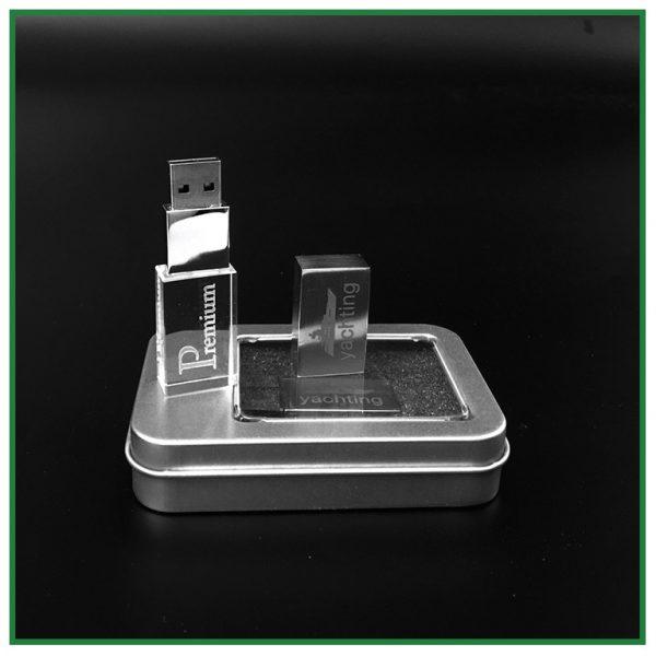 Clé usb en verre avec gravure laser