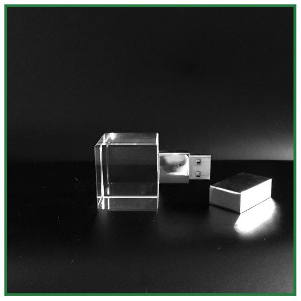 clé usb cube cristal