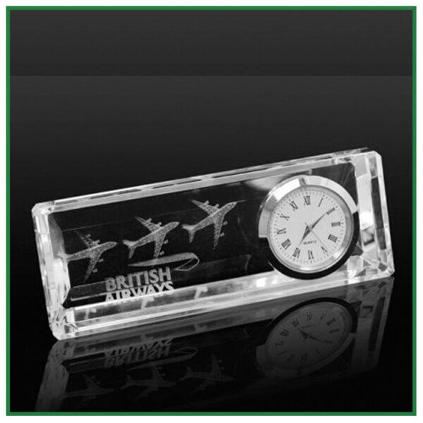 horloge personnalisée en verre