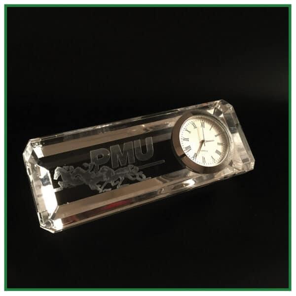 accesoire bureau en verre, horloge