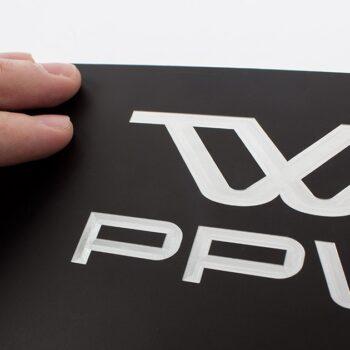 plaque aluminium noire avec gravure laser