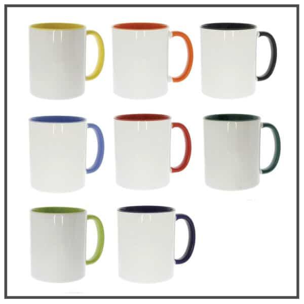 mug personnalisé bicolor