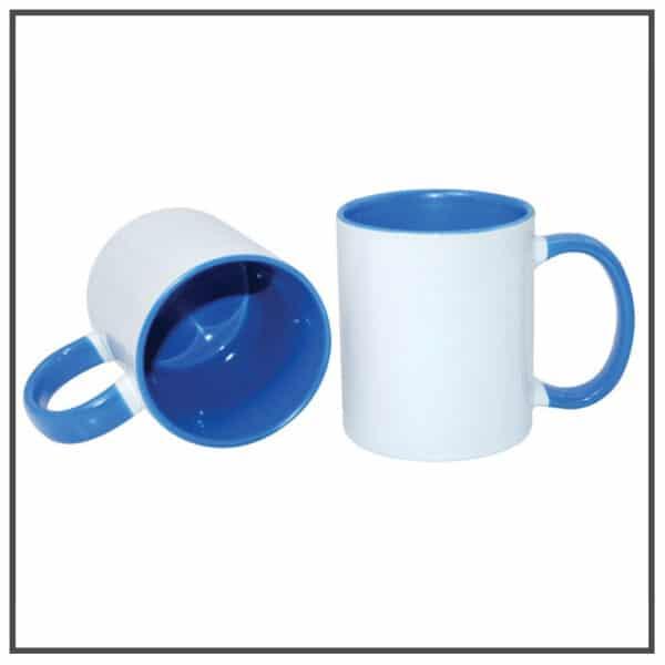 mug publicitaire bicolor