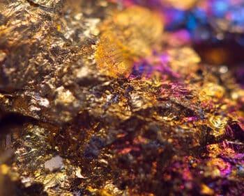 Jewel ore. Macro. Extreme closeup